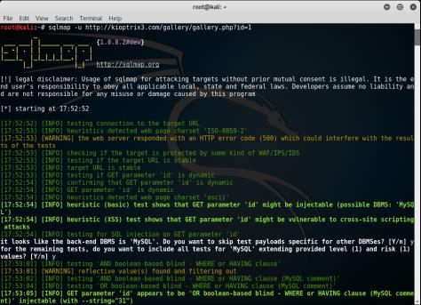 Kioptrix_Level3_sqlmap