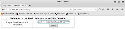 Kioptrix_remote_shell_command_webpage_Level2