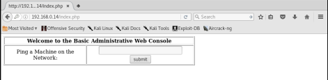 Kioptrix_webpage_console_Level2