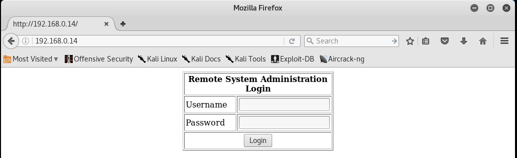 Kioptrix_webpage_Level2