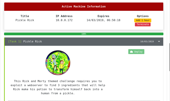 TryHackMe – Pickle Rick CTF | passionforpentesting