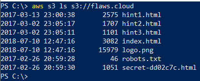 flaws_level1_listing_directory