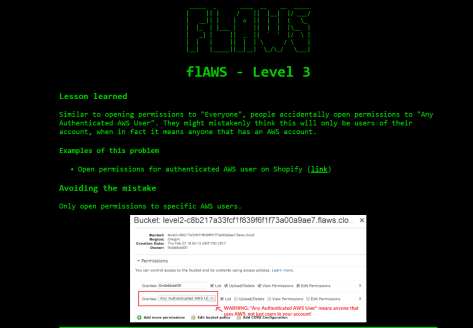 flaws_level3_landing_page